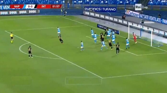 Christian Eriksen inter napoli serie a italian cup