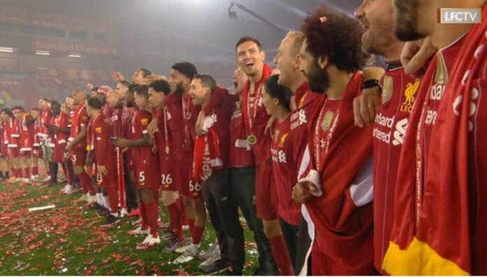 Liverpool valioliigassa mestaruus valioliiga pokaali