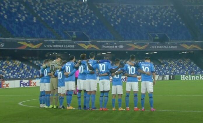 Diego Maradonan kymppipaita Napoli UEL